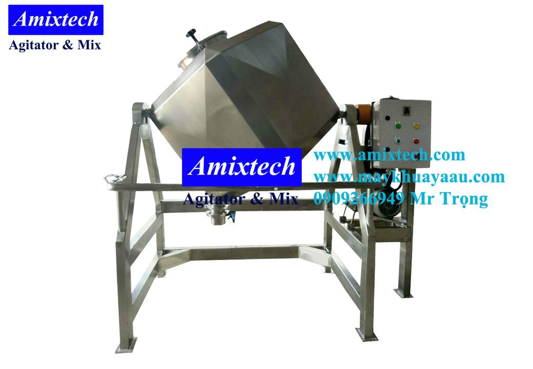 máy trộn bột khô hình lập phương Amix-MT08