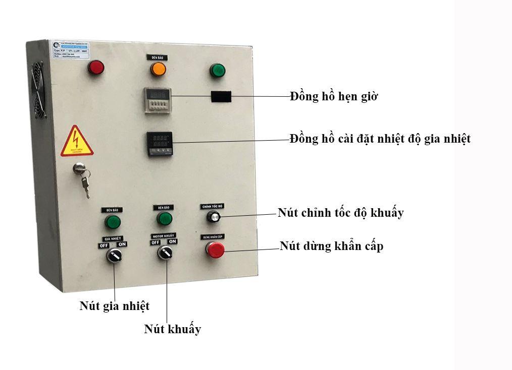 tủ điện bồn khuấy gia nhiệt