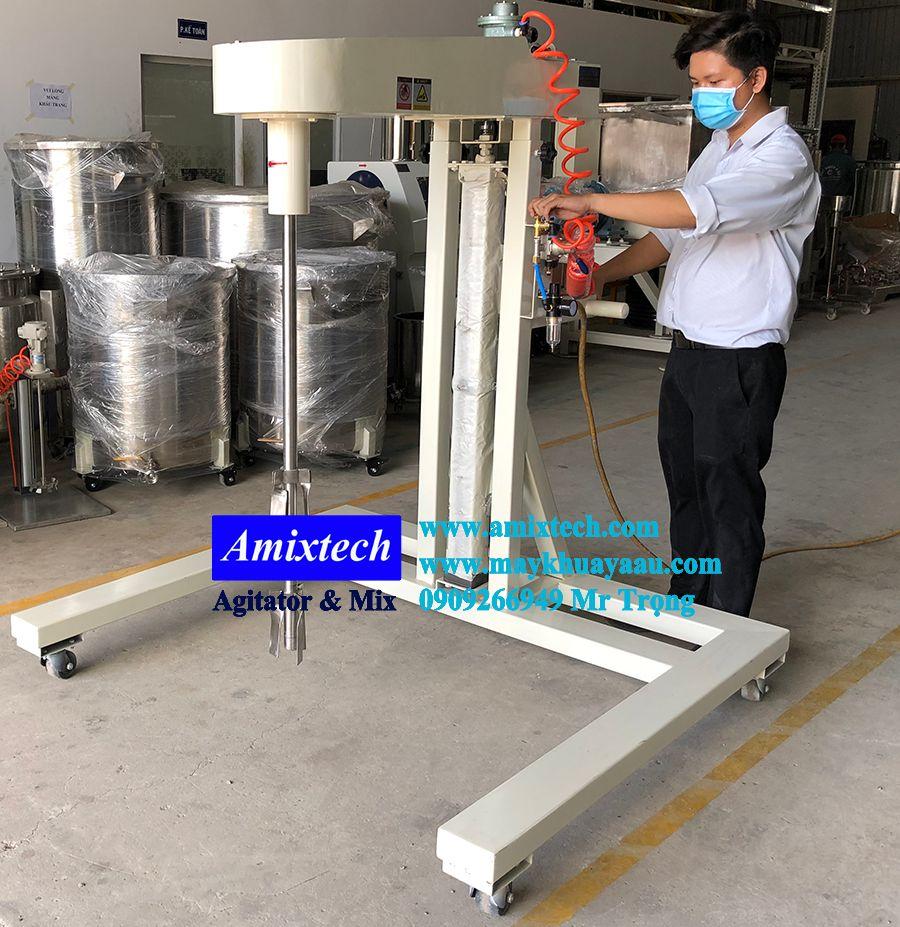 máy khuấy khí nén thùng ibc 1000L