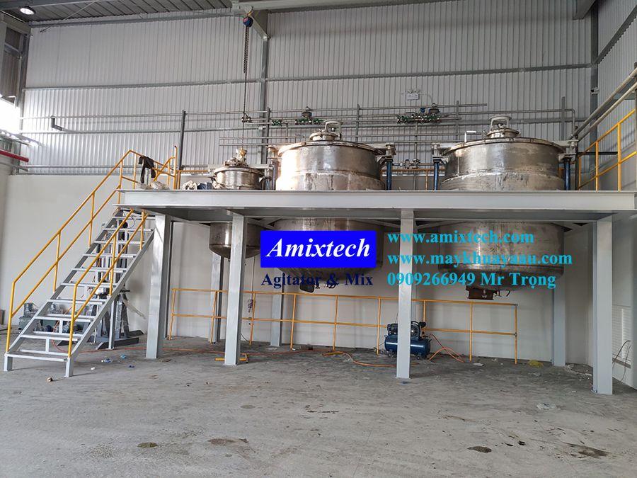 bồn khuấy công nghiệp Amix-BK12