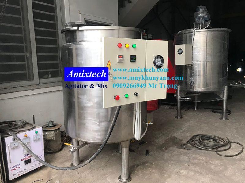 bồn nấu gia nhiệt thực phẩm 1000 lít