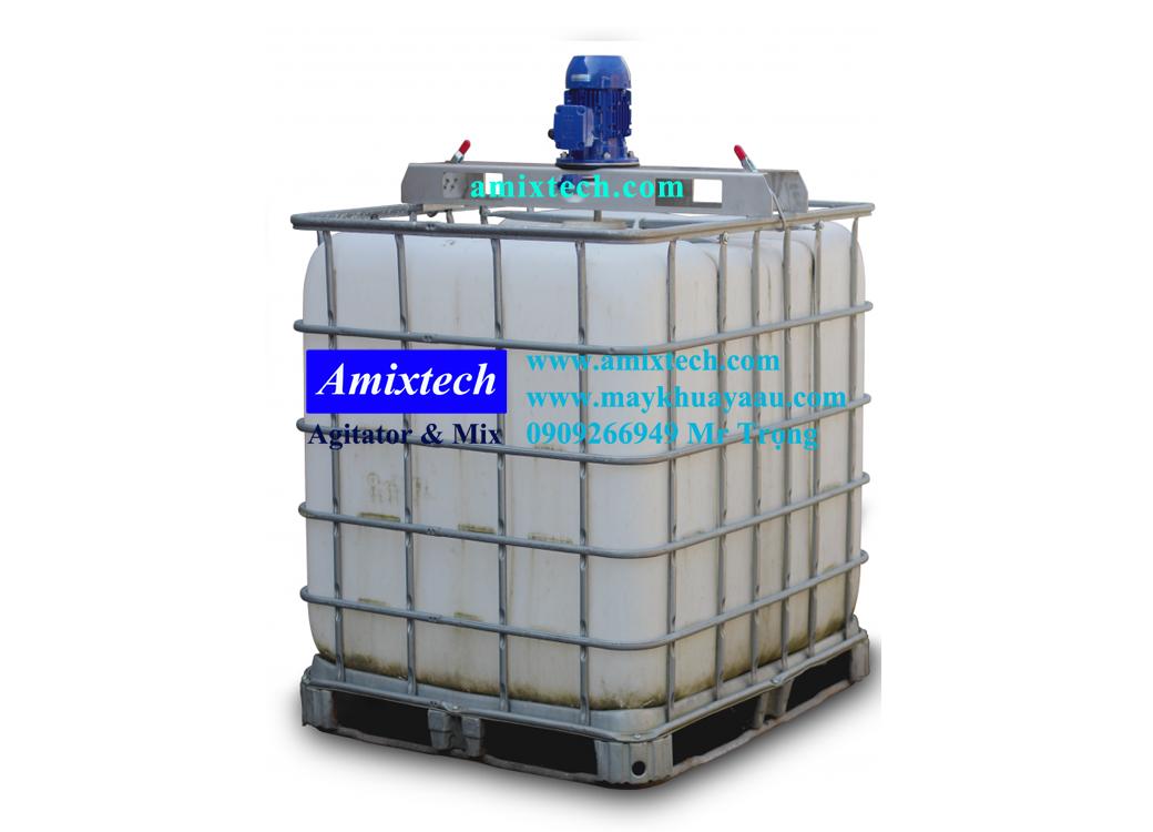 máy khuấy thùng ibc 1000 lít